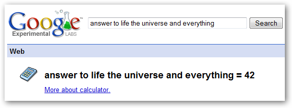 Answer to life the universe and everything