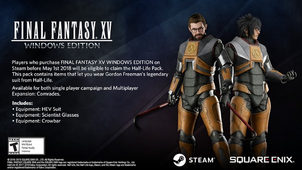 FF XV Windows Edition : Steam Half Life DLC