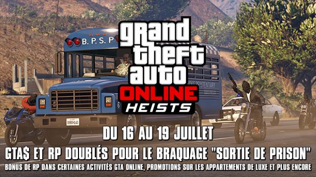 GTA Online - Weekend Special 16 au 19 juillet 2015