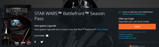 Star Wars Season Pass Free