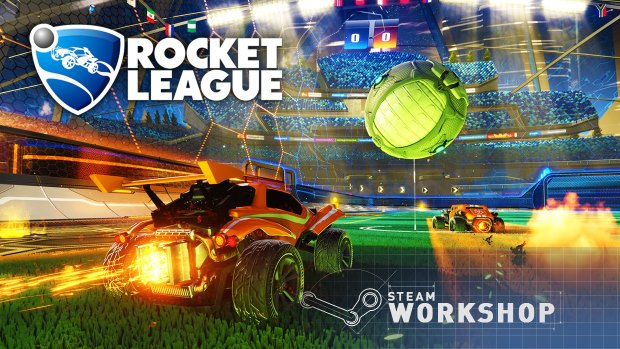 Rocket League with Steam Workshop