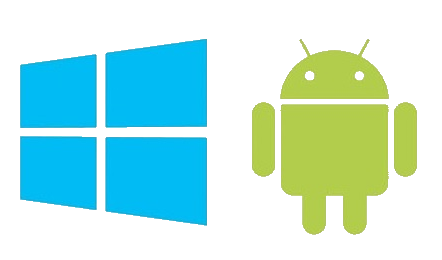 Windows & Android logos