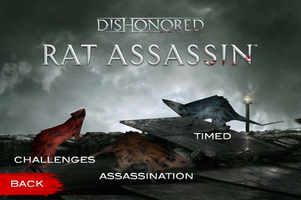 Dishonored Rat Assassin: Les modes